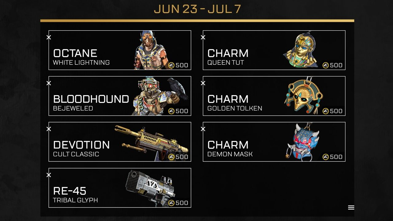 Apex Legends Lost Treasures Event special offers