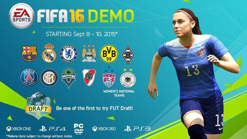 FIFA 16 Demo Details