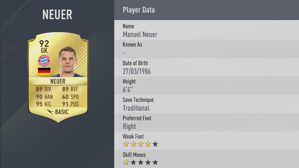 Dossier du 11/02 : Les 5 meilleurs joueurs de FIFA 17 5-Neuer-lg