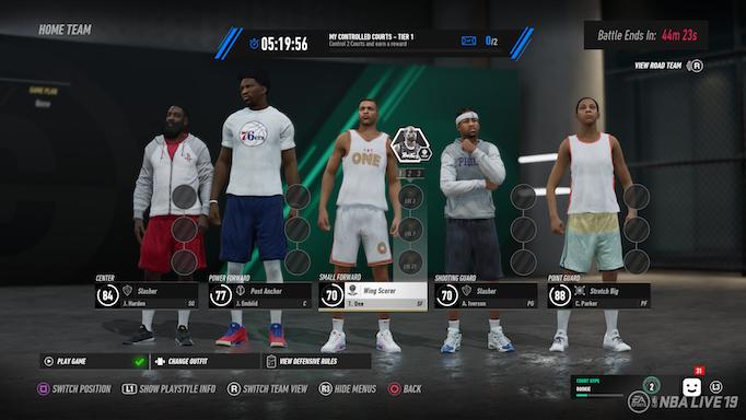 NBA LIVE 19: Court Battles