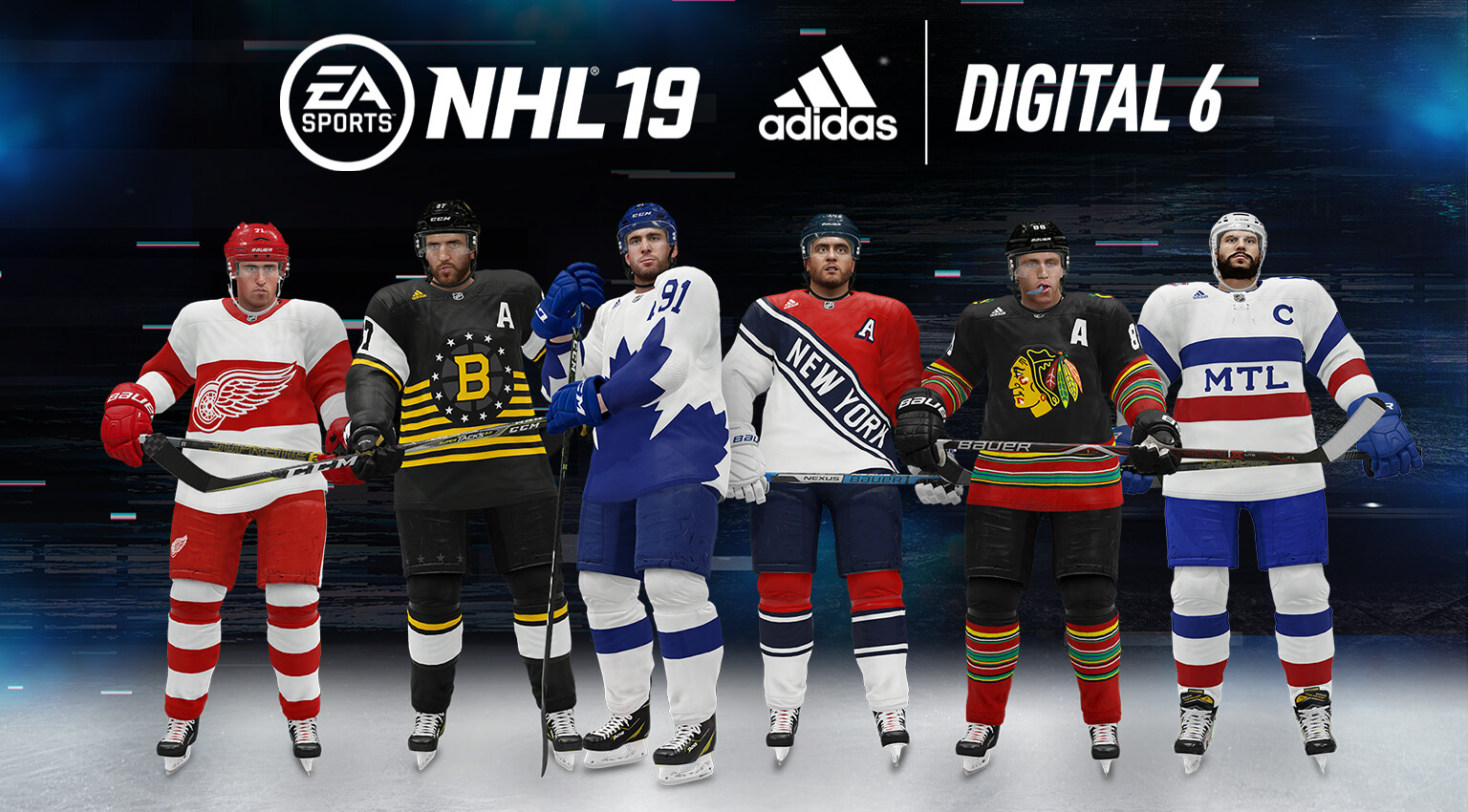 NHL® 19 Digital 6 Jerseys in partnership with adidas – EA