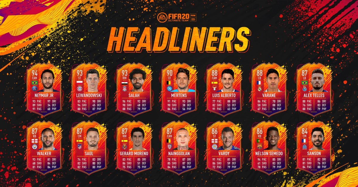 FIFA 20 Ultimate Team - Headliners - EA SPORTS Official Site