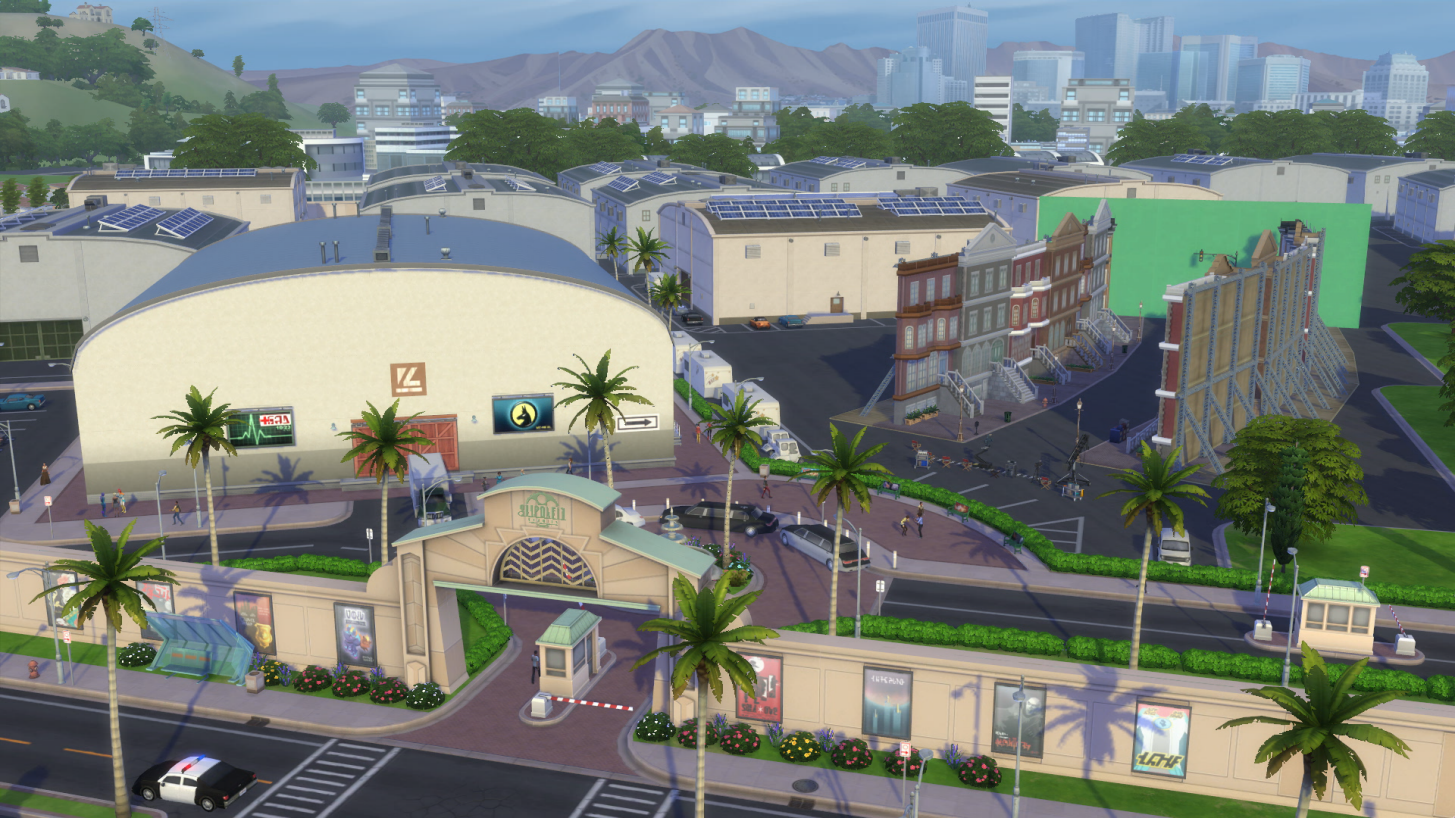 Los Sims 4 ¡Rumbo a la Fama!: visita guiada a Plumbob Pictures