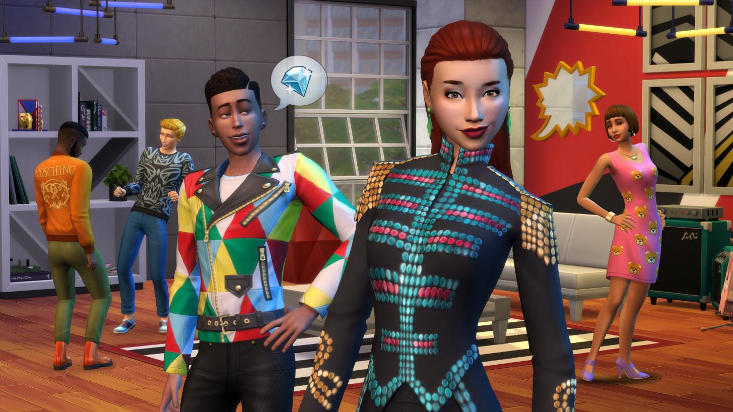 Presentamos Los Sims 4 Moschino Pack de Accesorios