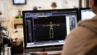 Mo-cap suit worn by athletes and actors which helps developers render their likenesses in-game.