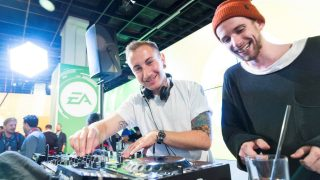 DJs at the EA business Lounge