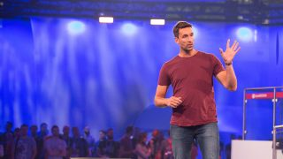 Patrick Söderlund opening the EA Live show in 2016