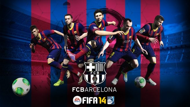 Fc Barcelona Fifa 14 Wallpaper