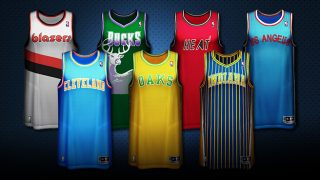 aa8d5c5c4d8 Get nostalgic with options like the Utah Jazz '86-'96 Home jerseys or the  Pacers' '97-'05 blue and gold Road stripes. There are more than 40  different ...