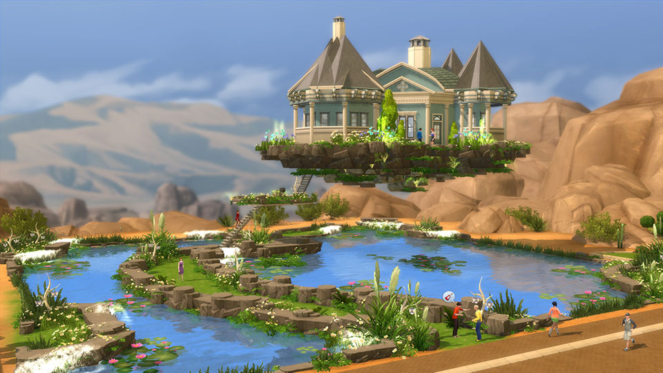 Flying Dream Home Is Great For Sims Not Afraid Of Heights.