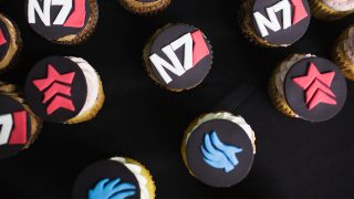 Various Mass Effect wedding cup cakes