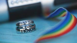 Nikki and Jake's wedding rings