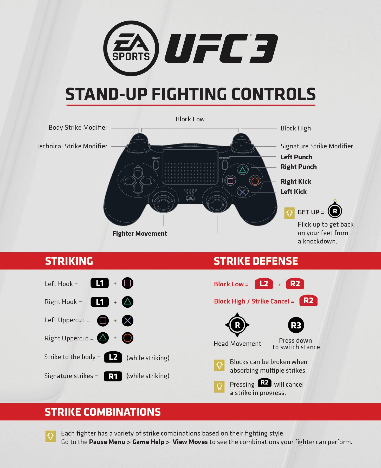 Stand Up PS4 Controls