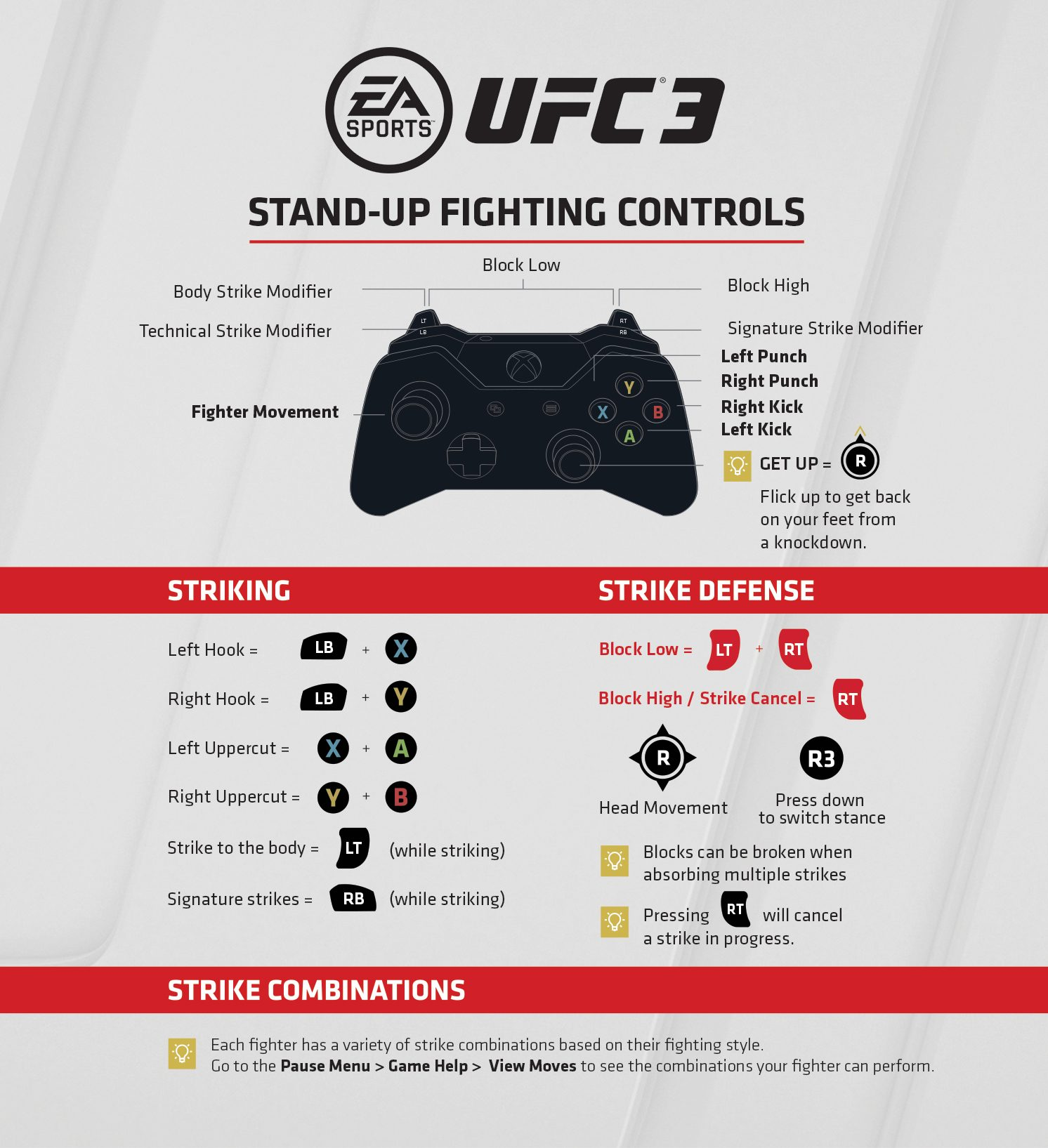 Stand Up Xbox One Controls