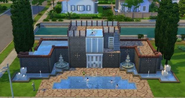 You re invited pool party for Sims 4 piscine a debordement