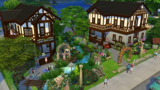 Romantic Garden By Anesthya. A Tudor Style Home With Beautiful Archways,  Flowers, And Even An Additional Home For When Your Sims Grow Up And Want To  Have ...