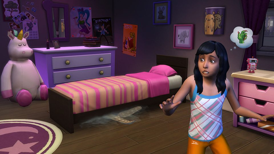 There's a Monster Under Your Bed in The Sims 4! No, Really!