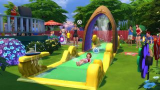 Water Slide In Backyard whee! check out the lawn water slide in the sims 4 backyard stuff