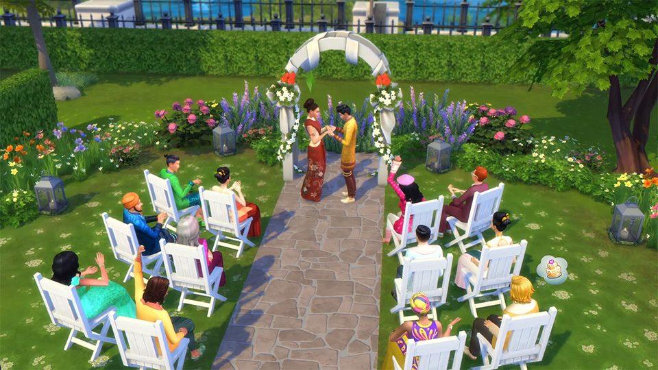 cómo planificar una boda perfecta al aire libre en los sims 4 urbanitas