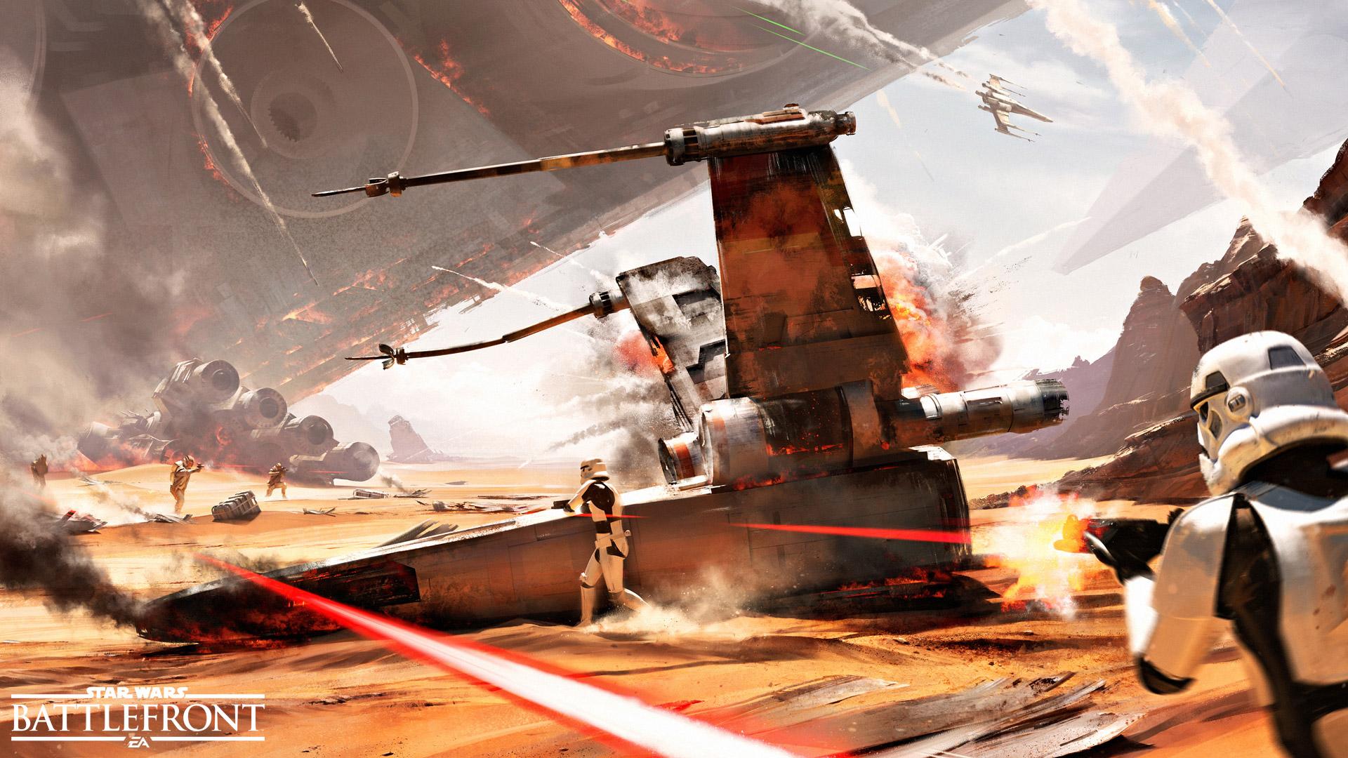 Konzeptzeichnung für die Schlacht von Jakku