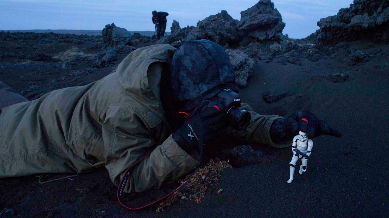 Having some fun while on location in Iceland