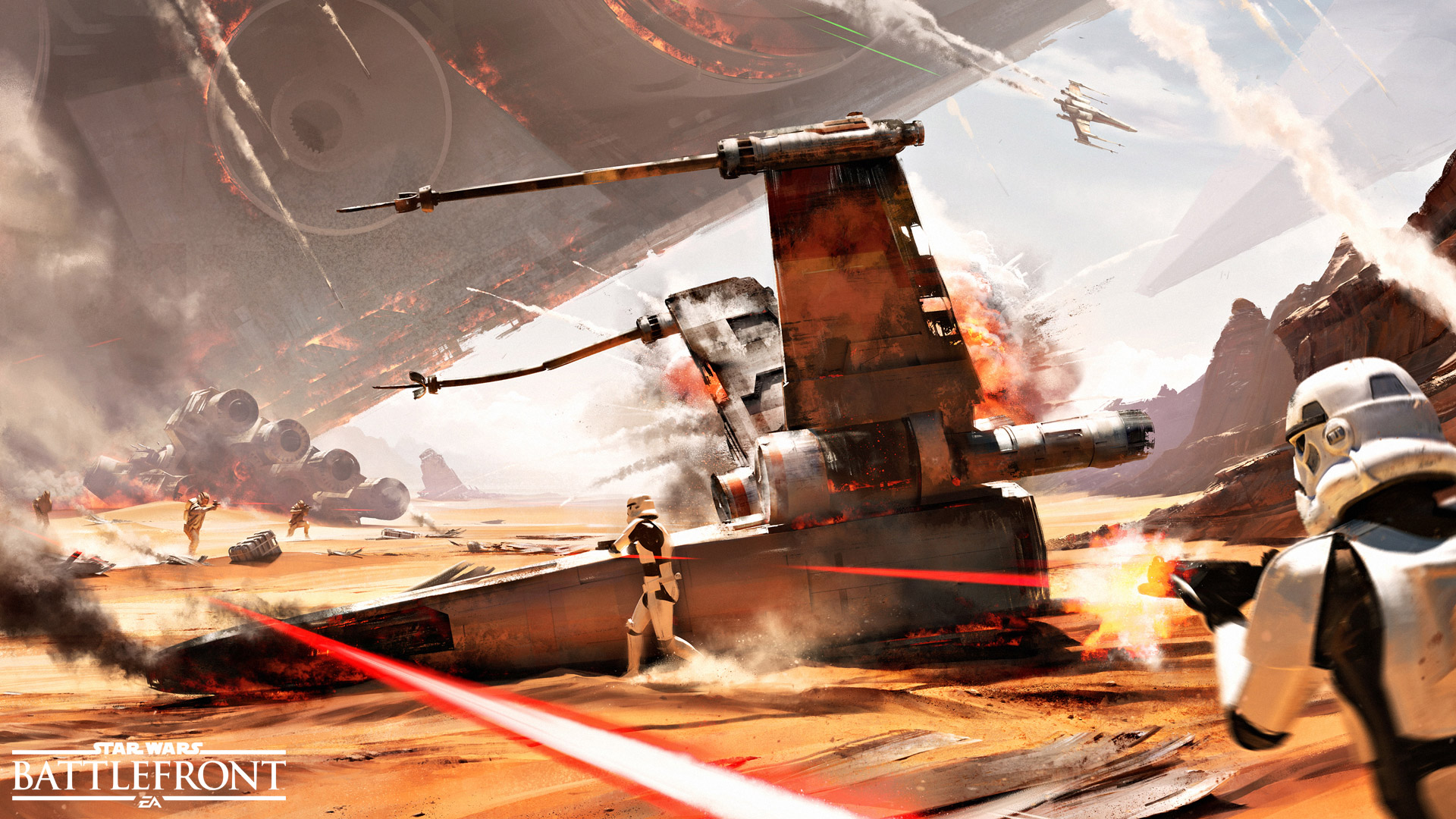 Arte conceitual da Batalha de Jakku