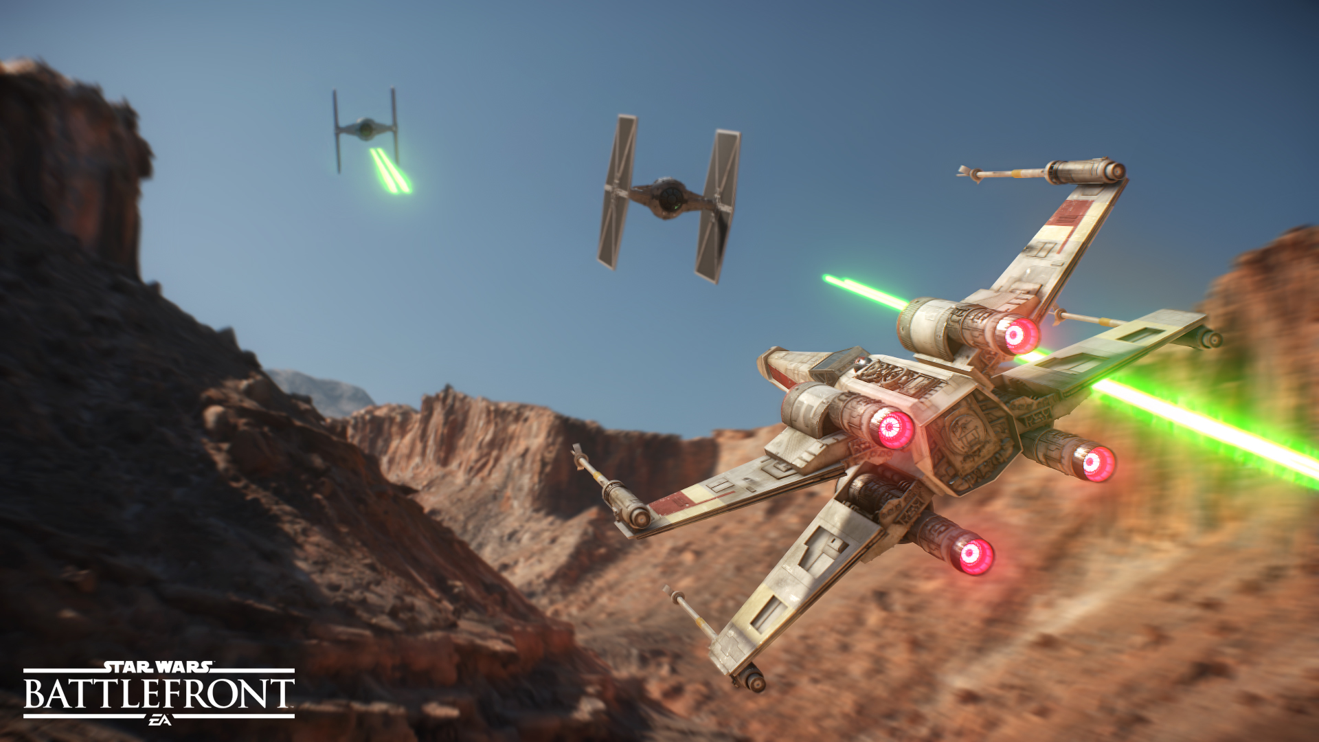 Command AT-ATs, pilot X-wings, TIE fighters, the Millennium Falcon and more of your favorite vehicles in Star Wars™ Battlefront™.