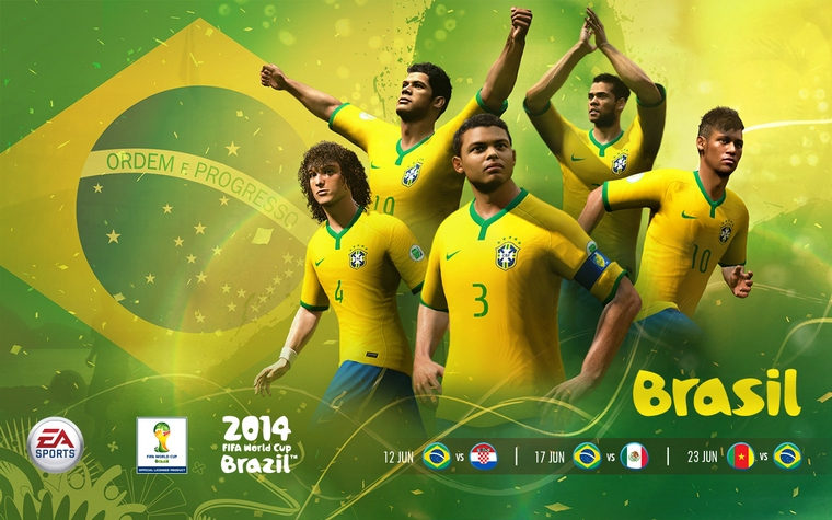Brazil Team 2014 Fifa World Cup Players ea Sports 2014 Fifa World Cup