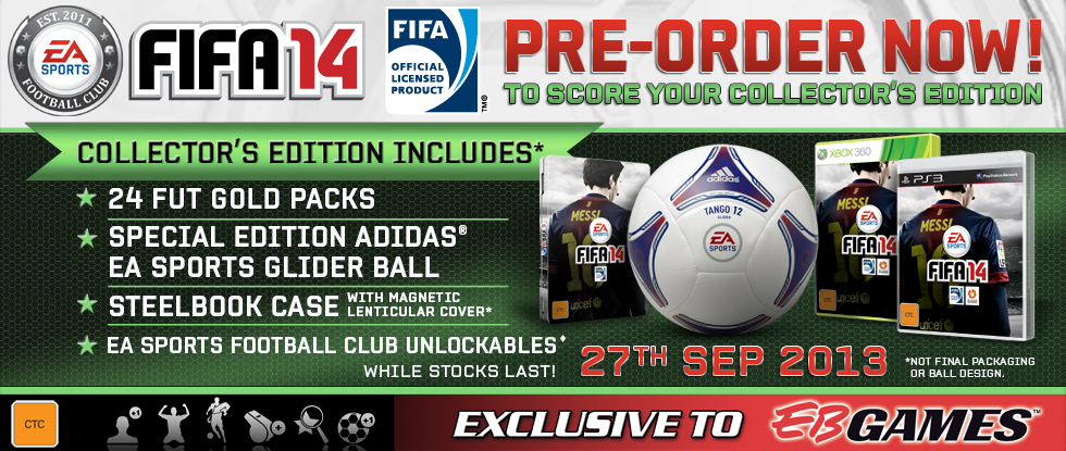 EB GAmes FIFA 14 Collector's Edition