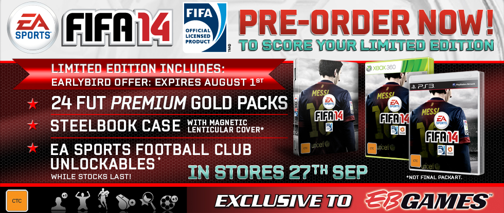 EB Games FIFA 14 Limited edition