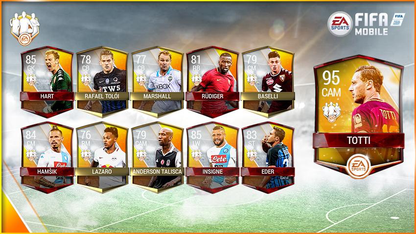 FIFA Mobile Team of the Week Players - TOTW Week 34