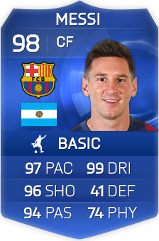 Messi Fifa 14 Card FIFA Ultimate T...