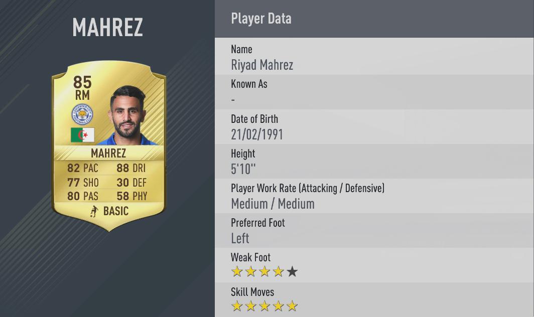 giocatori con 5 Stelle Skill su FIFA 17
