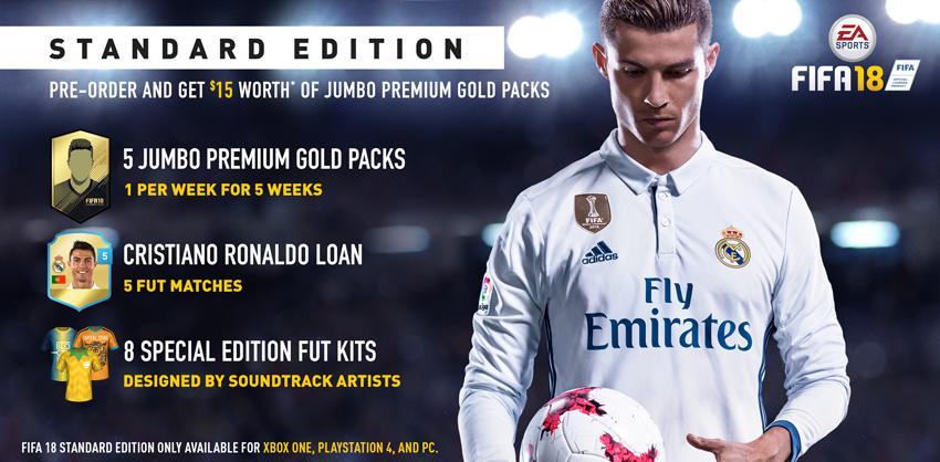 FIFA 18 STANDARD EDITION DETAILS