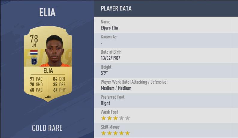 《FIFA 19》全5星花式球员汇总
