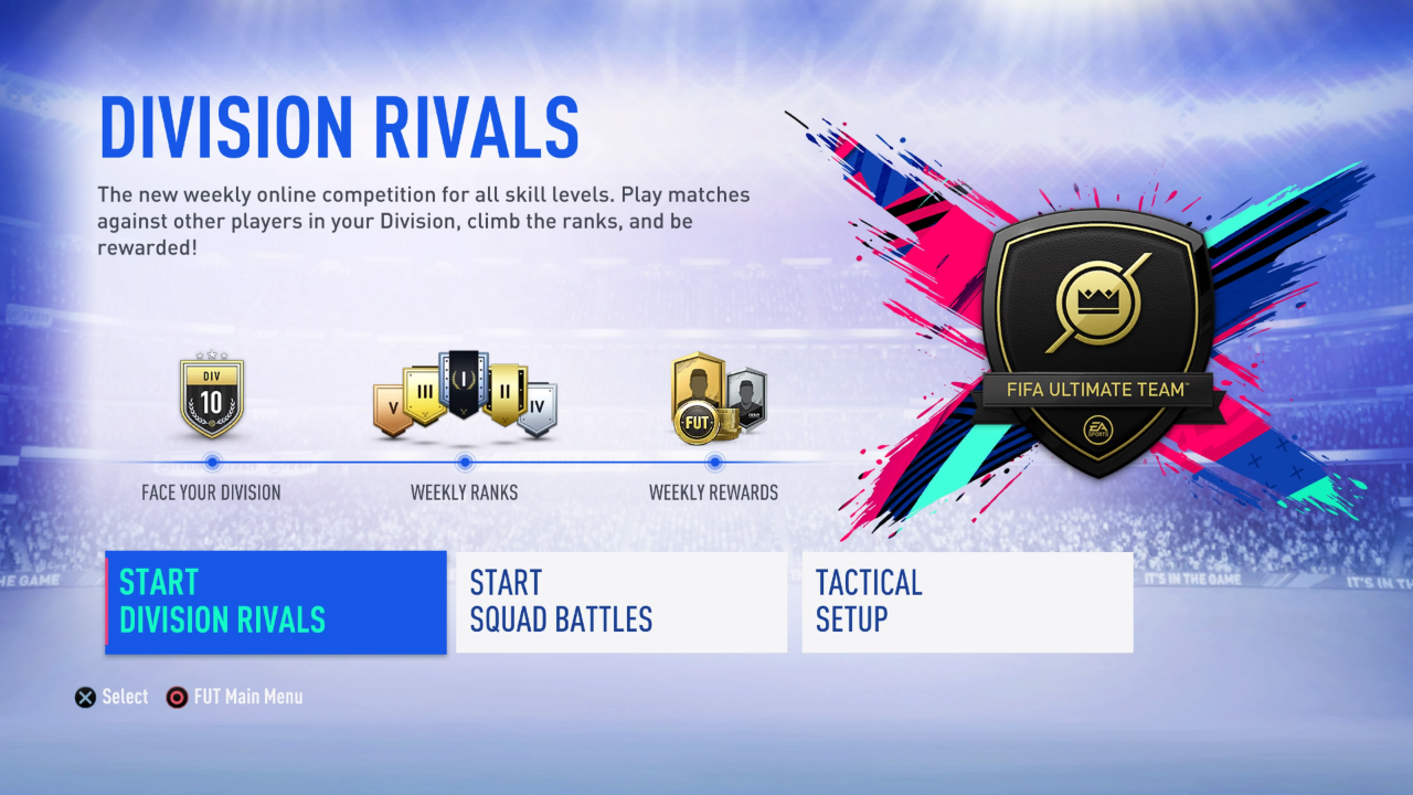 Discover Your Place In The FUT Community And Take On Players Of A Similar Skill Level From Around World Division Rivals This Brand New Mode For