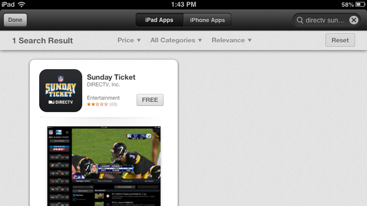 sports lines nfl sunday ticket login