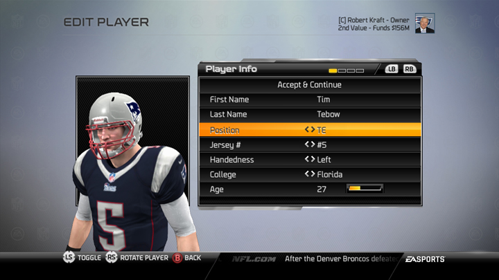 bce97b20eb9 With Madden NFL 25, you can make position changes at any point in the  offseason of your Connected Franchise. You can also make all position  changes on your ...