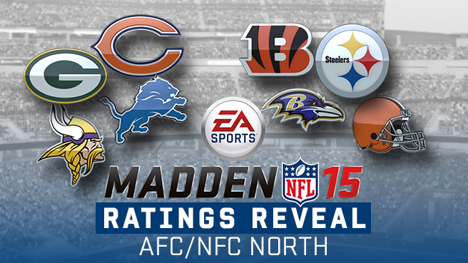 AFC North and NFC North Ratings in Madden NFL 15 ca10f8735