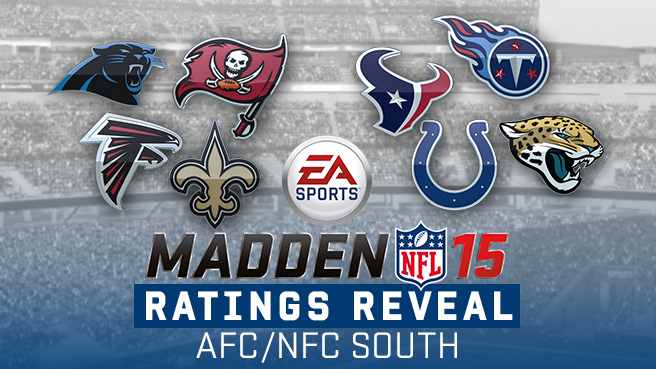 AFC South and NFC South Ratings in Madden NFL 15