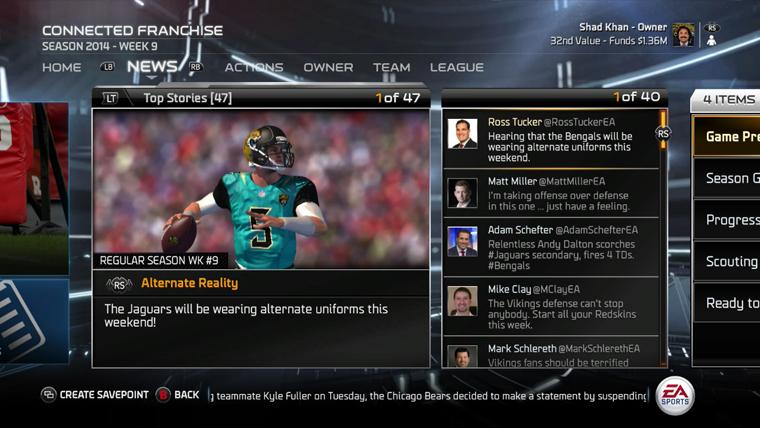 36ec892e75f Madden NFL 15 Feature Deep Dive: Connected Franchise