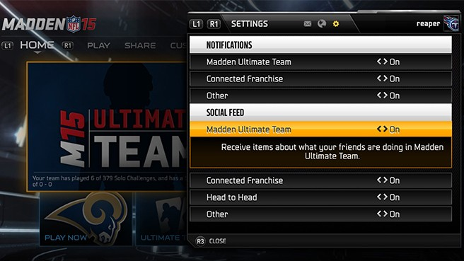 Madden Ultimate Team Feature Overview: Madden Messenger