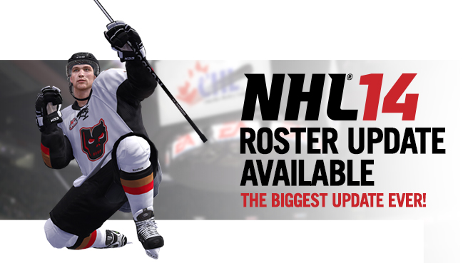 Updating rosters nhl 14