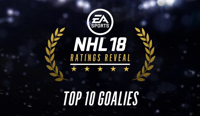 NHL® 18 RATINGS - TOP 10 GOALIES b5b3da387