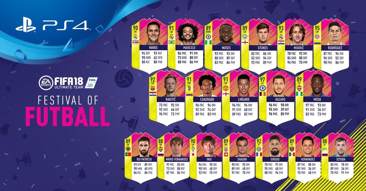 FIFA 18 FUTbalfestival Team of the Matchday 2