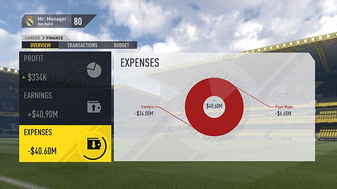 FIFA 17: Изменения в режиме карьеры